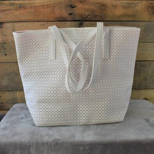 Ultra Chi White and Hot Pink Tote Bag